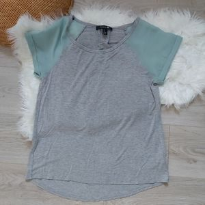 Forever 21 mesh sleeved tshirt